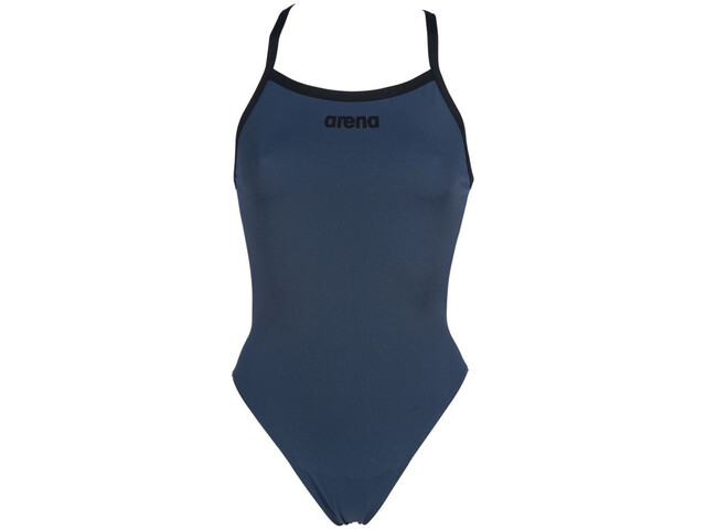 arena Solid Light Tech High One Piece Swimsuit Dame shark/black